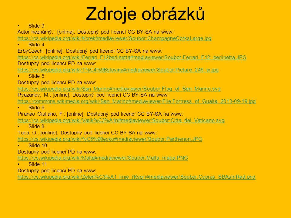 Zdroje obrázků Slide 3. Autor neznámý.: [online]. Dostupný pod licencí CC BY-SA na www: